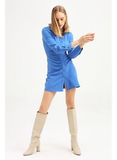 Quzu Elbise Mavi
